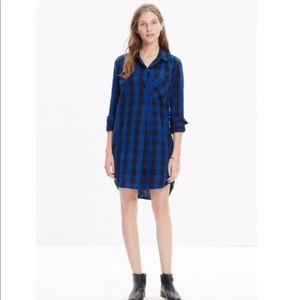 Madewell Navy and Blue fall dress